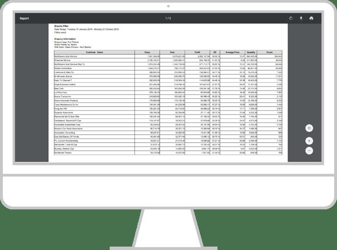 Export an enquiry - desktop 6