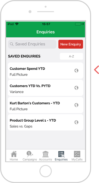 How to export an enquiry - iOS 2