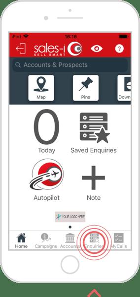 Save an enquiry - iOS 1