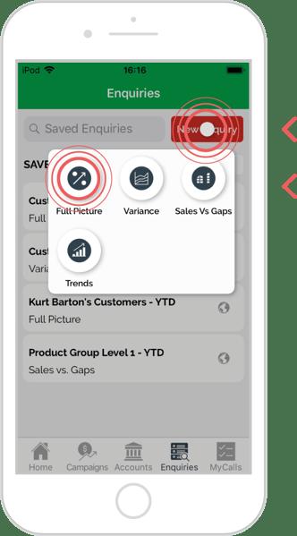 Save an enquiry - iOS 2