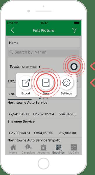 Save an enquiry - iOS 4