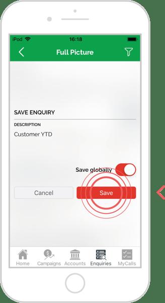 Save an enquiry - iOS 6