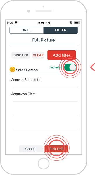 add additional filters to an enquiry - ios 9