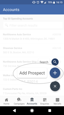 How to add a prospect - Android 2-01