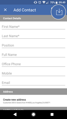 How to import contacts from your Android device to the sales-i app 5-01