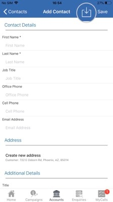 How to import contacts from your Apple device to the sales-i app 5-01