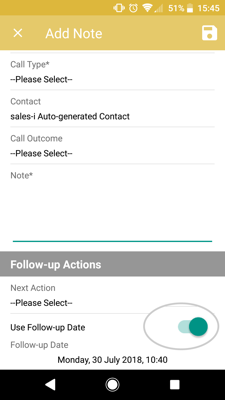 How to schedule a follow up call (Android) 4-01