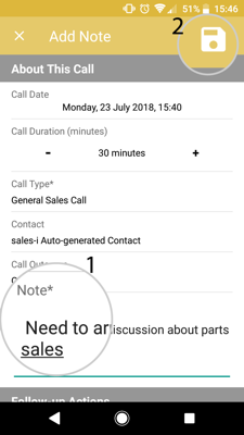 How to schedule a follow up call (Android) 5-01