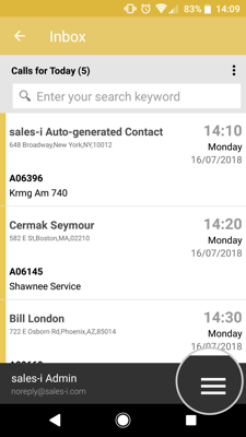 How to view and edit your team members mycalls on your android device 2-01