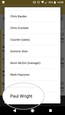 How to view and edit your team members mycalls on your android device 4-01